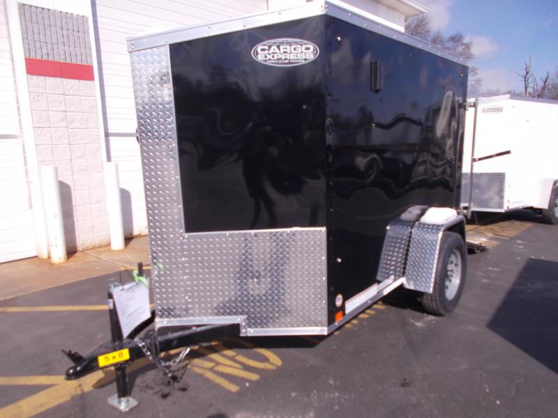 2019 Cargo Express 5x8 V-Nose Ramp Door Enclosed Trailer 2020289