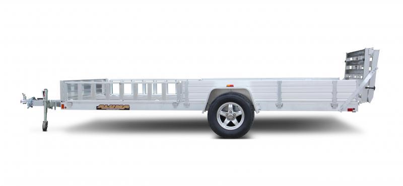 2018 Aluma 8114SR Aluminum ATV Trailer with Spare mounted 2018102