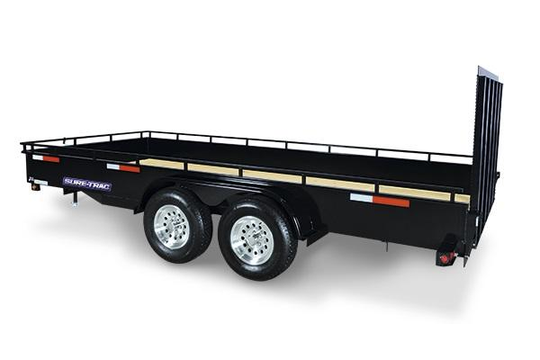"2018 Sure-Trac 7x16 Steel 14"" High Side Utility Trailer 2018358"