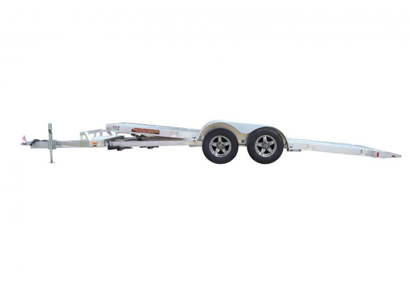 2018 Aluma 8218 Aluminum Tilt Car / Racing Trailer 2018105