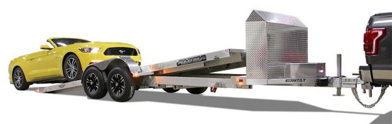 2020 Aluma 82x18 Aluminum Anniversary Edition Tilt Utility Trailer 2020223