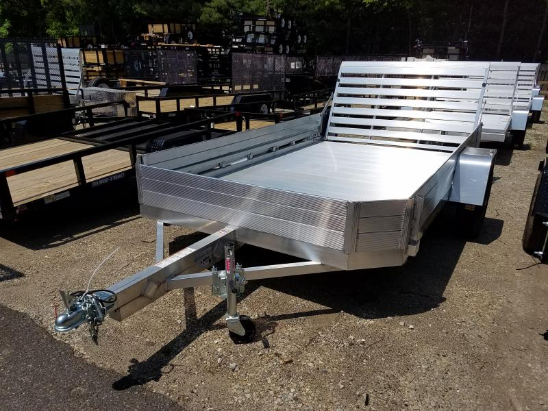 2019 Aluma 7712H Aluminum Utility Trailer WITH SIDE KIT AND SPARE 2018840
