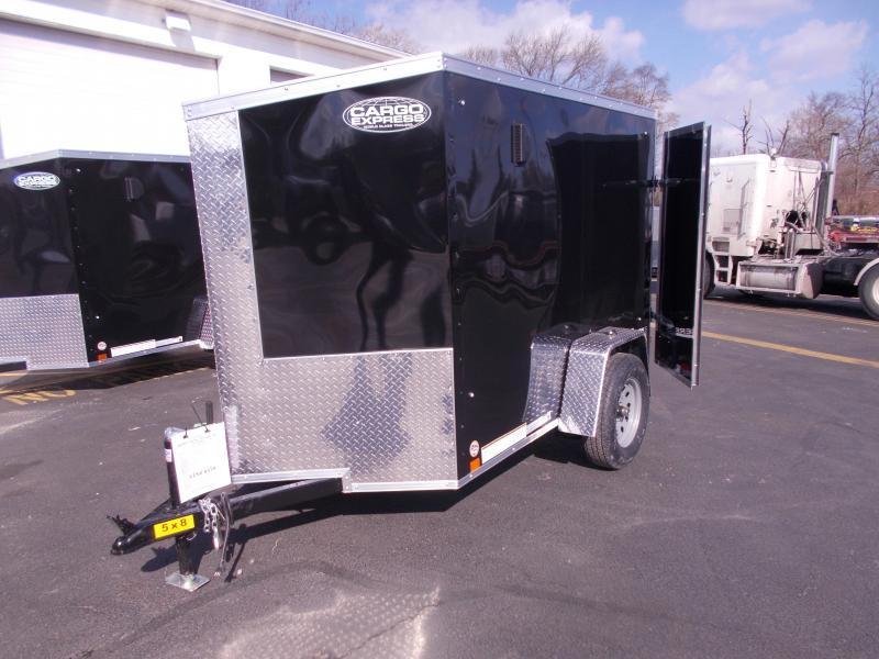 2019 Cargo Express 5x8 V-Nose Enclosed Trailer 2020292