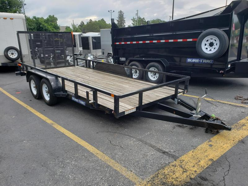 2018 Sure-Trac 7 X 16 TA Tube Top Utility Trailer