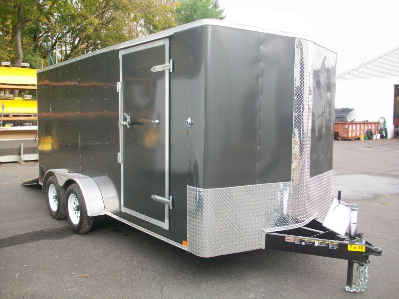 2018 Carry-On 7X16 Bull Nose Enclosed Cargo Trailer 2017933