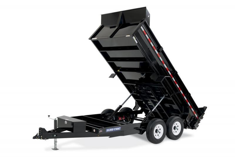 2019 Sure-Trac 82x14 HD 7GA Floor Low Profile Dump 2019212