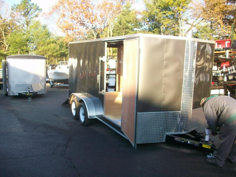 2018 Carry-On 7X16  Bull Nose Enclosed Cargo Trailer 2018024