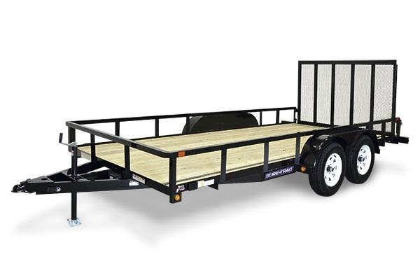 2018 Sure-Trac 7x16 Tube Top Utility Trailer 2018335