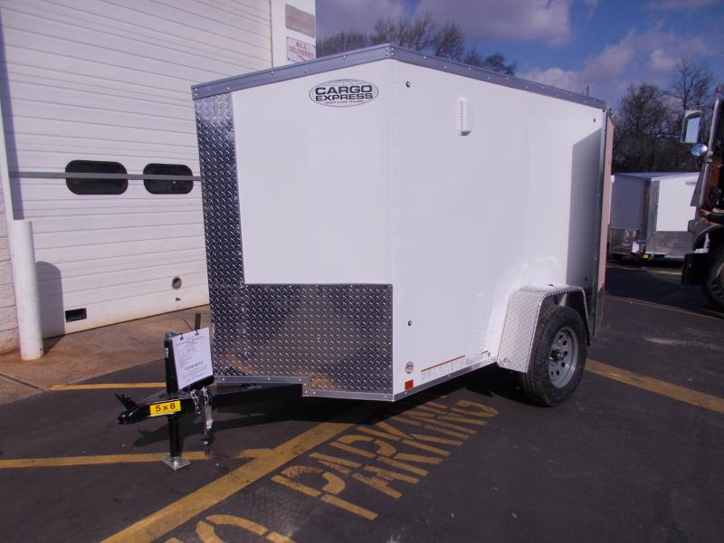 2018 Cargo Express 5x8 V-Nose Enclosed Trailer 2020291