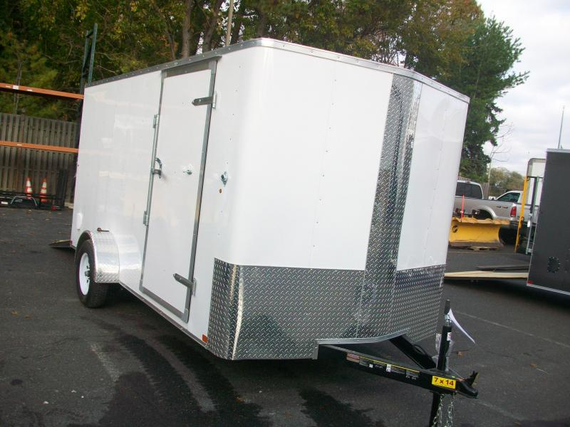 2018 Carry-On 7x14 Bull Nose Enclosed Cargo Trailer 2017936
