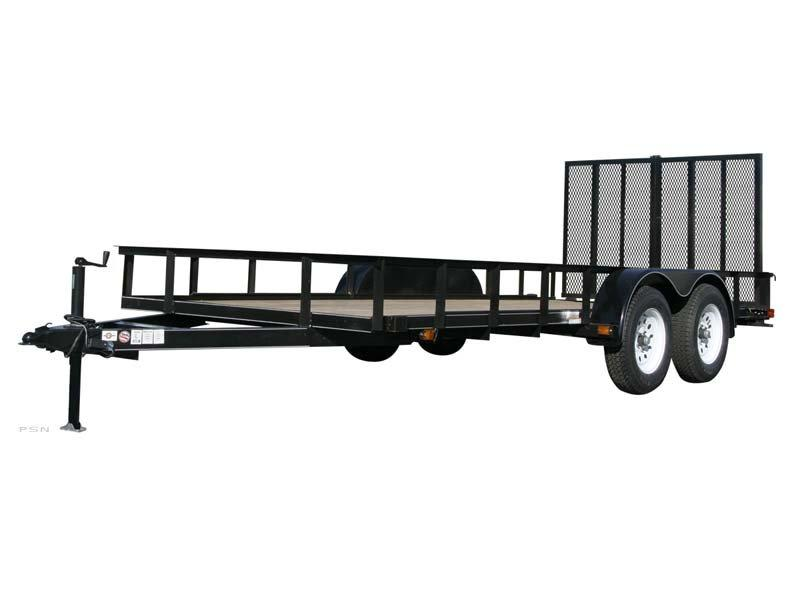 2018 Carry-On 6X14 - 7000 lbs. GVWR Tandem Wood Floor Utility Trailer 2019165