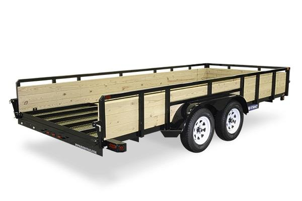 2018 Sure-Trac 7x14 Tandem 3 Board high Side Utility Trailer 2019188