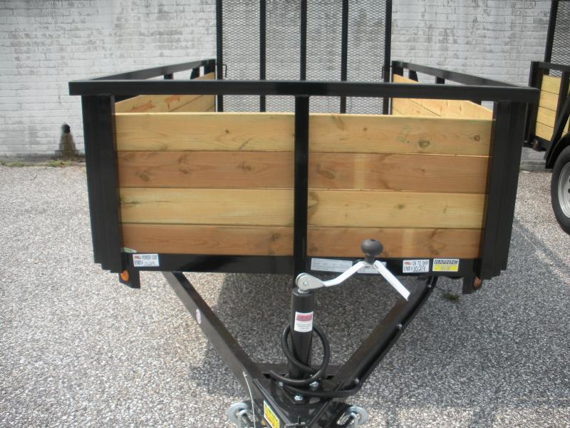 "2019 Quality Steel and Aluminum 62"" X 10' Wood High Side Utility Trailer"