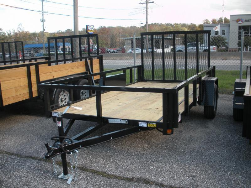 "2019 Quality Steel and Aluminum 62"" X 10' 3K Tube Steel Utility Trailer"