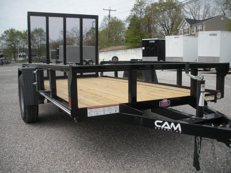 "2019 Cam Superline 60"" X 10' Utility Trailer 3K Single Axle with Tubular Railings"