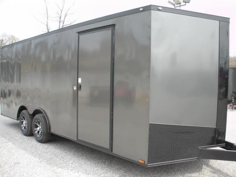 2019 Spartan 8.5' X 20' 7K Charcoal/ Black Trim Car / Racing Trailer