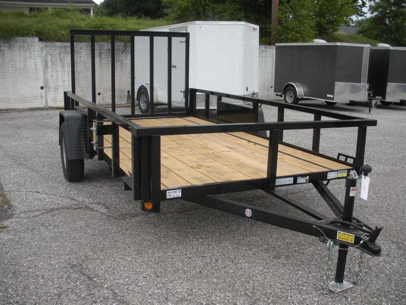 "2019 Quality Steel and Aluminum 74"" X 10' 3K Tube Steel Utility Trailer"
