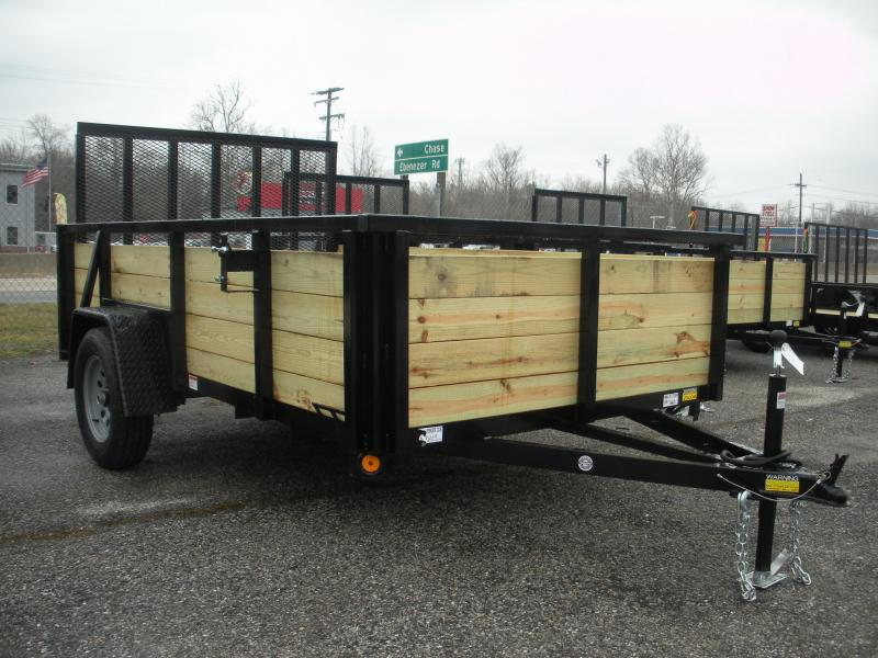 "2019 Quality Steel and Aluminum 74"" X 10' Utility Trailer"
