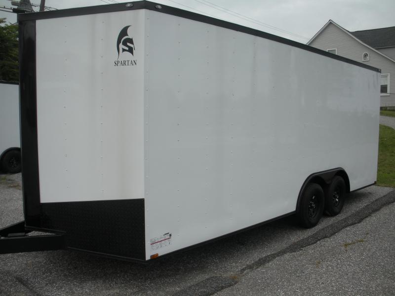 2019 Spartan 8.5' X 20' X 7' Hgt. 7K White/ Black Trim Car / Racing Trailer *BUY IT NOW*CRAZY LOW PRICE*