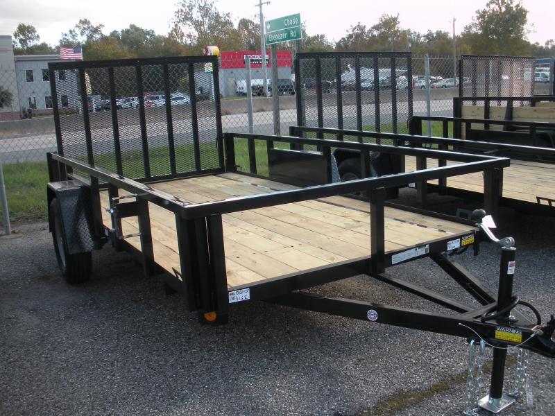 "2019 Quality Steel and Aluminum 74"" X 12' 3K Tube Steel Utility Trailer"