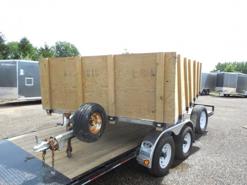 2005 Chilton 8.5x10 with Wood Sides Snowmobile Trailer