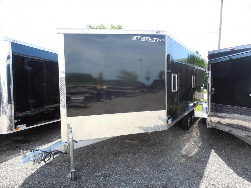 2015 Stealth Trailers Apache 8.5x25 Deck Over Snowmobile Trailer