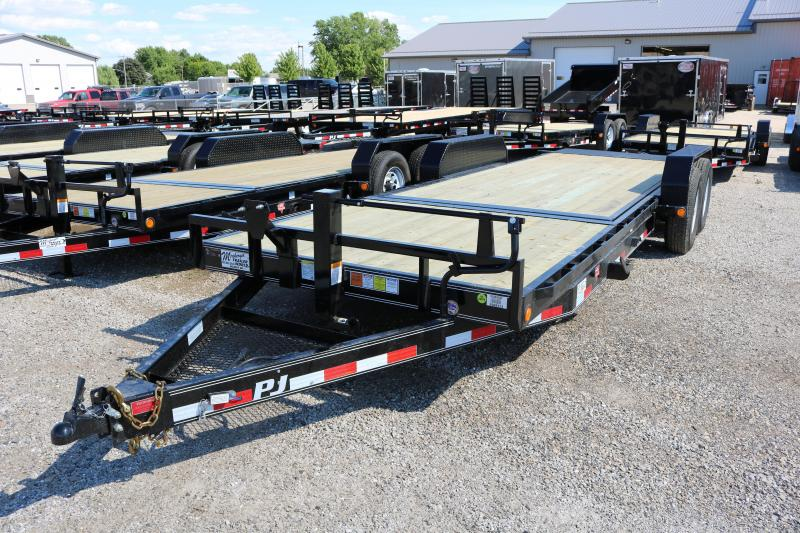 2018 PJ Trailers 22' Channel Equipment Tilt Trailer