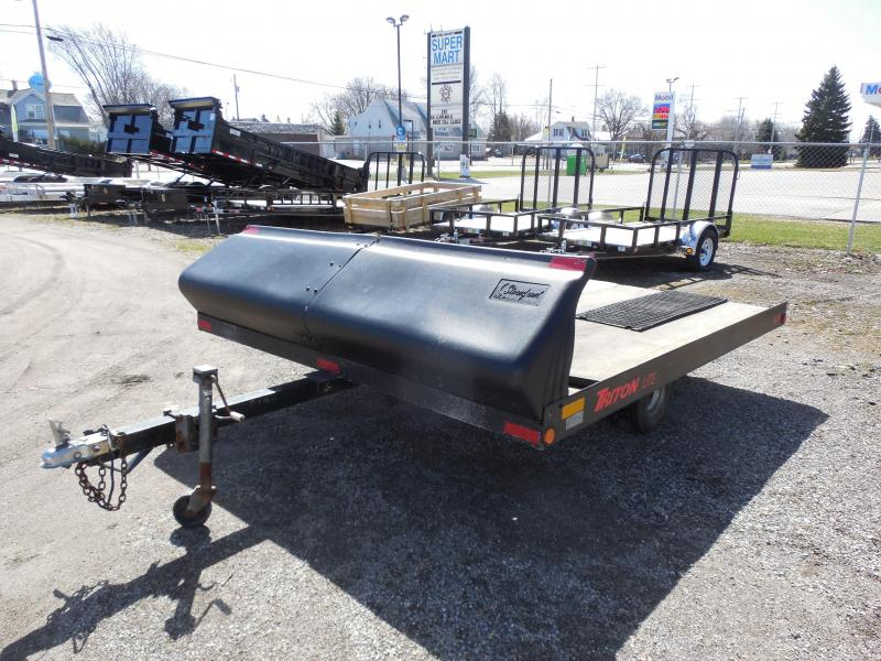 1995 Triton Trailers 10ft Snowmobile Trailer