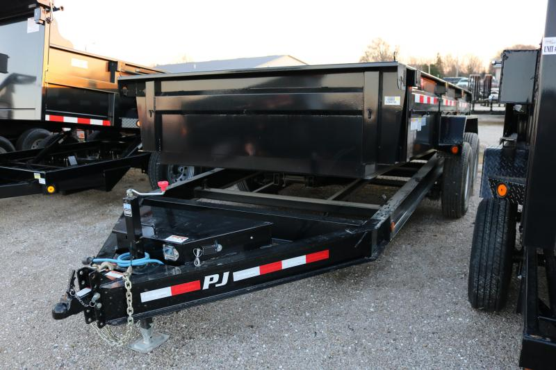 "2018 PJ Trailers 14'x83"" DL Low Pro Dump Trailer"