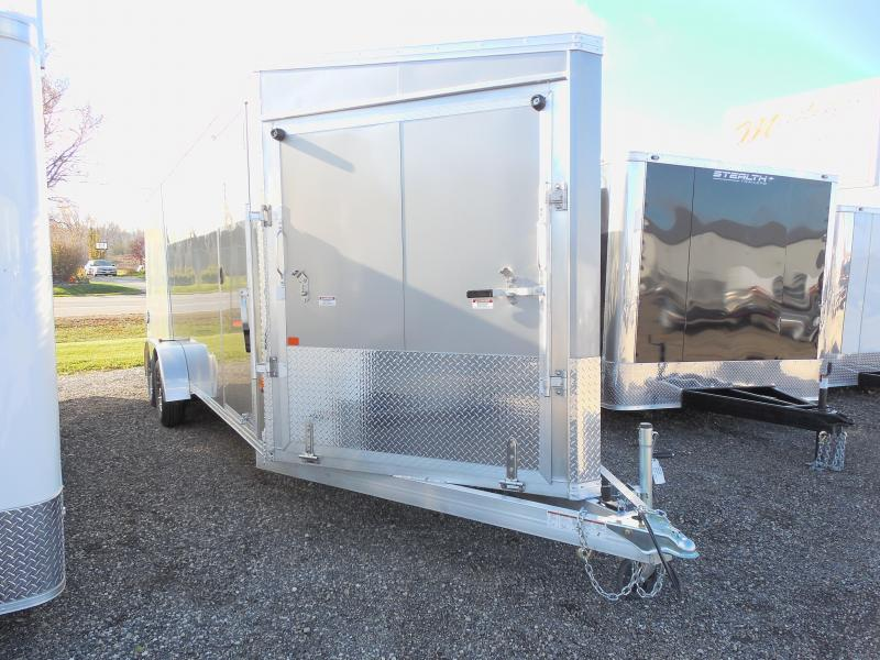 Overstock Liquidation Sale! 2016 EZ Hauler 7x27 with Extra Height Snowmobile Trailer