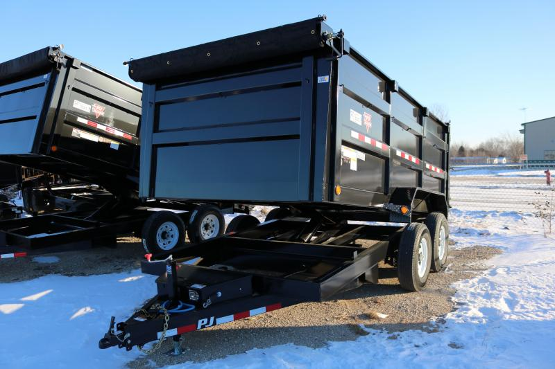 "2018 PJ Trailers 14'x83"" High Side Dump Trailer"