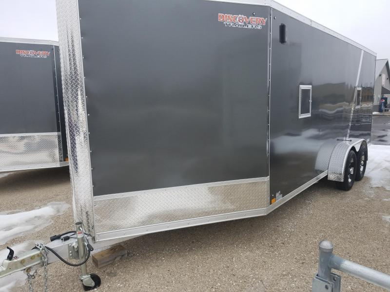 2019 Discovery Trailers GLACIER SERIES 7X23 Snowmobile Trailer
