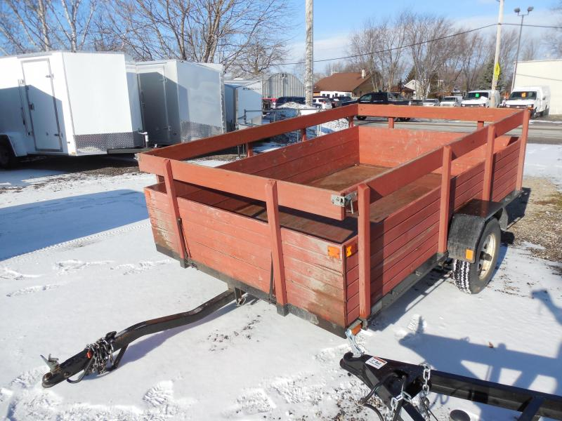1997 Chilton 6x10 with Wood Sides Utility Trailer