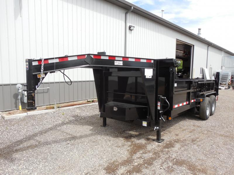 2018 Quality Steel and Aluminum 83x16 Gooseneck Dump Trailer
