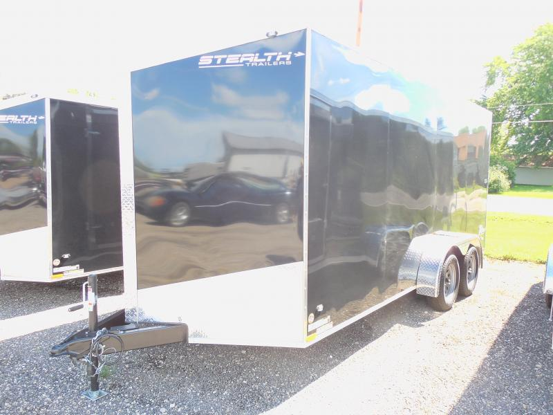 2015 Stealth Trailers Titan SE 7x16 with Ramp/Extra Height Cargo / Enclosed Trailer