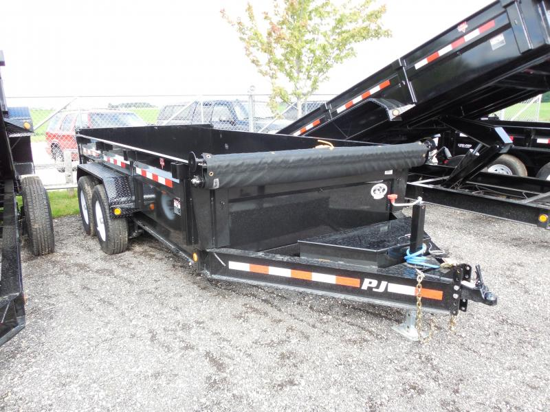 2018 PJ Trailers 83x14 Low Pro DL Dump Trailer