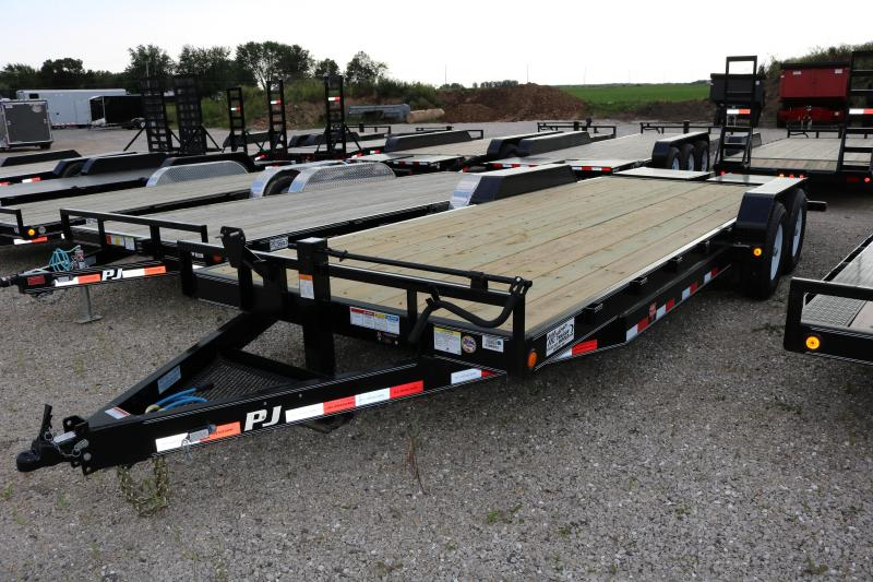 2018 PJ 22' CC Equipment Trailer with Monster Ramps