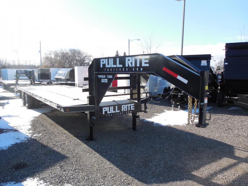 2015 Pull Rite 30ft Low Pro Gooseneck Flatbed Trailer