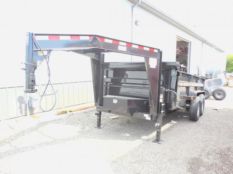 2015 Quality Steel and Aluminum 83x14 CJ Heavy Hauler Gooseneck Dump Trailer