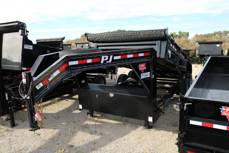 "2018 PJ Trailers 16'x83"" Low Pro XL Dump Trailer"