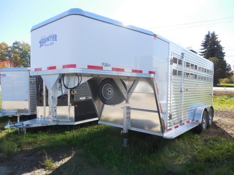 2016 Frontier 16 Gooseneck Livestock Trailer