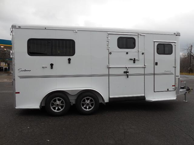 Clearance 2015 Sundowner Trailers BP 2H Side Ramp Horse Trailer