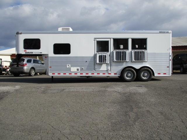2013 Sundowner Trailers GN 3H Horizon 7608 LQ Horse Trailer