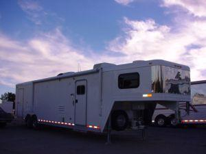 Clearance 2005 Elite Trailers GN 30ft Carhauler with Outlaw LQ Car / Racing Trailer