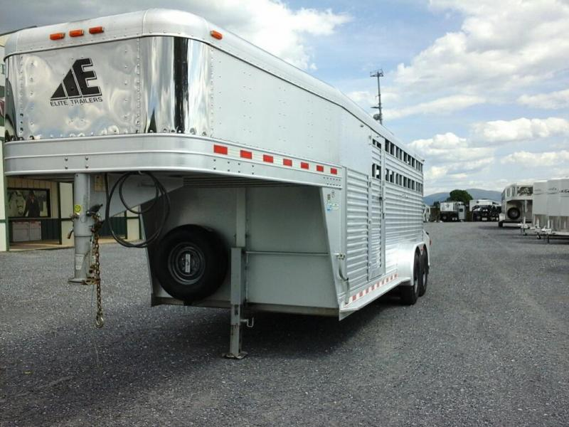 2007 Elite Trailers 20 GN Show Cattle Livestock Trailer