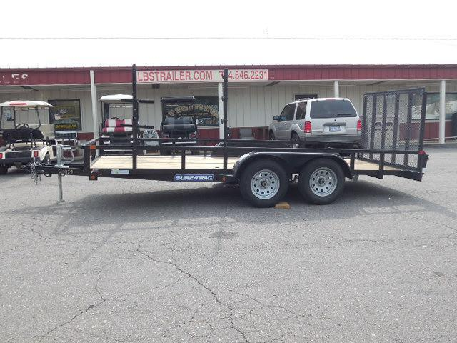 2016 Sure-Trac BP 16ft Landscape Utility Trailer