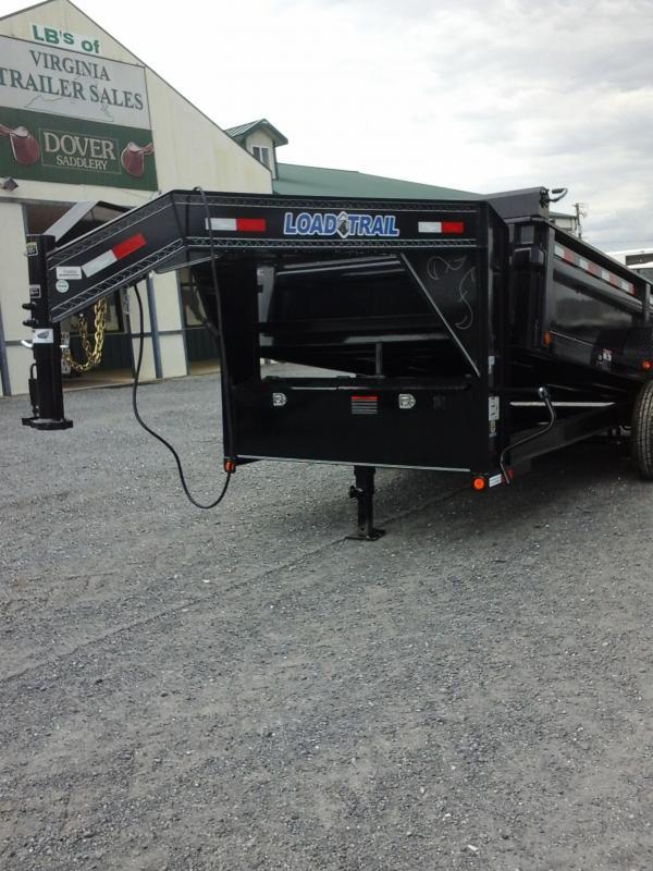"""2017 Load Trail 83""""X14' Tandem Low Pro Gooseneck Dump Trailer"""