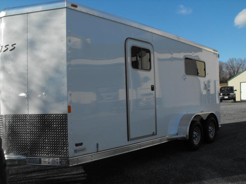 2015 Exiss Custom 6820 SR 2H BP Horse Trailer