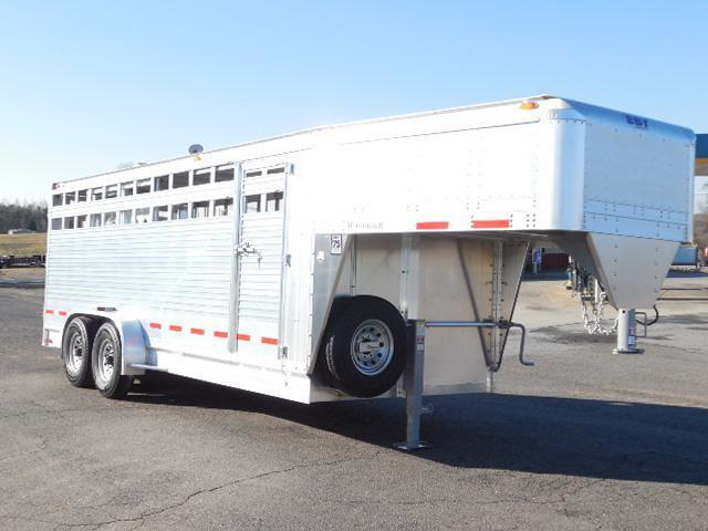 2014 Eby Trailers GN 20ft Maverick Stock / Stock Combo Trailer