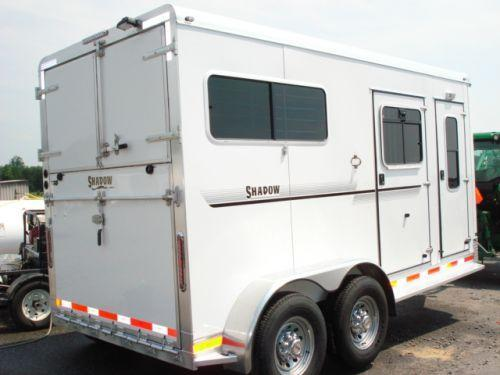 2009 Shadow Trailers BP 2H Straight w/Dress Horse Trailer